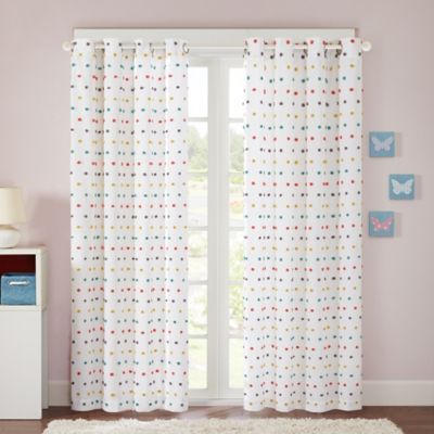Regency Heights Chloe 84-Inch Pom Pom Grommet Top Window Curtain Panel