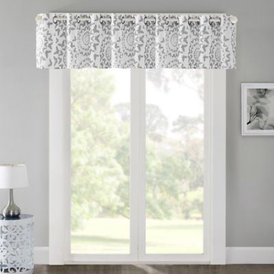 Regency Heights Mariposa 17-Inch Window Valance in Grey