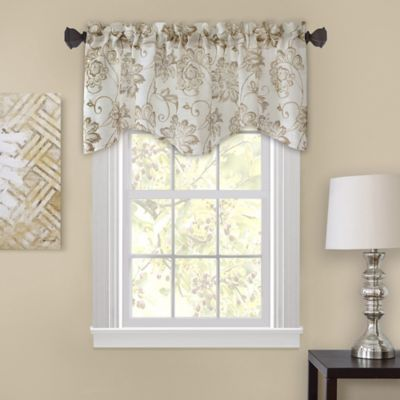 Homewear Linens Engelton 28-Inch M-Shaped Window Valance in Natural