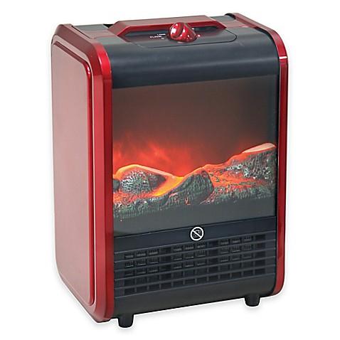 Comfort Zone 174 Mini Ceramic Fireplace Heater In Red Www