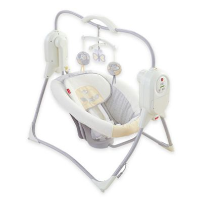 Fisher-Price® Power Plus™ SpaceSaver Cradle 'n Swing in Mini Geo