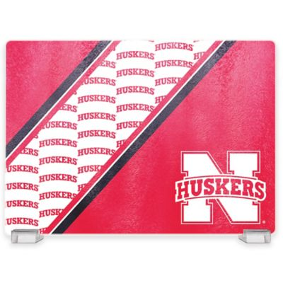 University of Nebraska Tempered Glass Cutting Board