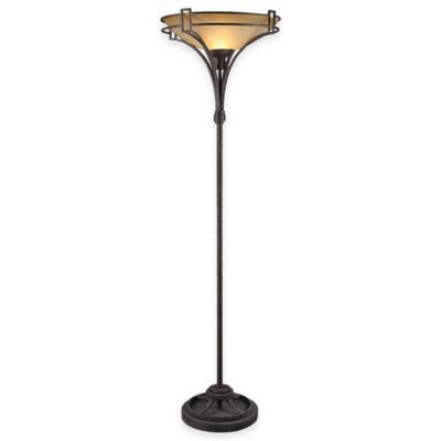 Uttermost Verduno Floor Lamp in Rust/Black