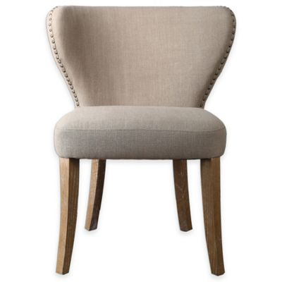 Uttermost Radman Armless Accent Chairs in Tan (Set of 2)