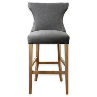 Uttermost Gamlin Barstool in Grey