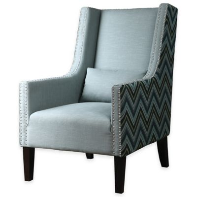 Uttermost Arwyn Modern Accent Armchair in Chambray Blue