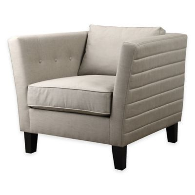 Uttermost Izaak Accent Armchair in Beige