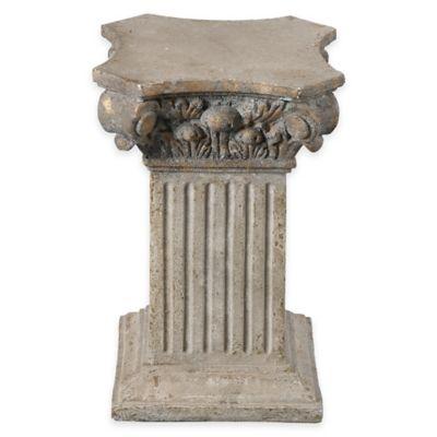 Uttermost Alben Aged Plinth in Ivory