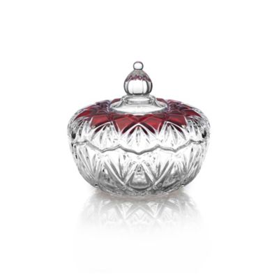 Mikasa® Saturn Covered Candy Dish in Ruby