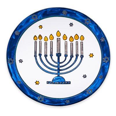 Classic Touch Round Hanukkah Platter