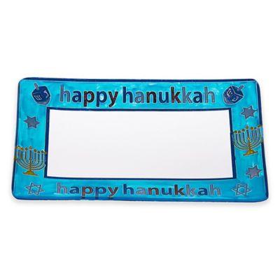 "Classic Touch Rectangular ""Happy Hanukkah"" Platter"
