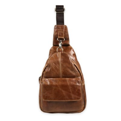 Journey Collection Amsterdam Satchel Leather Cross Body Bag in Camel