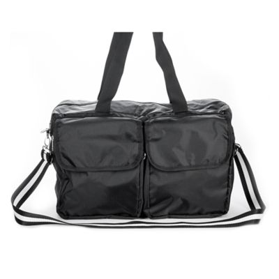 Sacs Collection Double Pocket Duffle/Cross Body Bag in Black