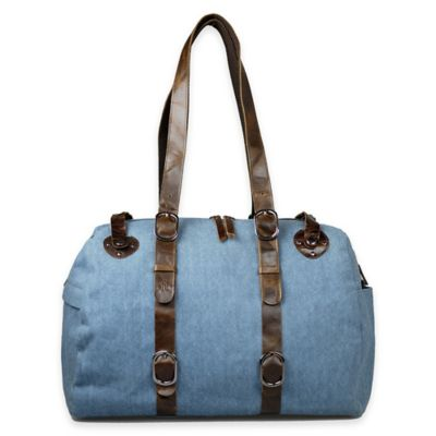 Journey Collection Inverness Canvas Shoulder Bag in Denim