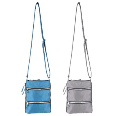 Sacs Collection Mini ZipUp Expandable Cross Body Bag in Charcoal