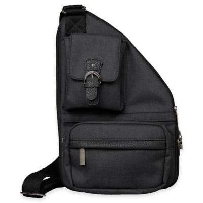 Sacs Collection Mini Metro Expandable Cross Body Bag in Black