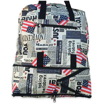 Sacs Collection Expandable Ultimate Traveler Tote in Flag Pattern