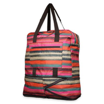 Sacs Collection Ultimate Expandable Traveler Tote in Multi Stripe