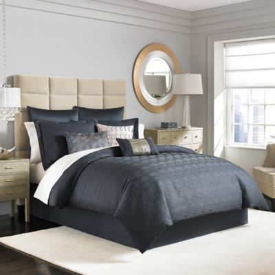 Manor Hill® Ripple King Comforter Set in Ink Blue
