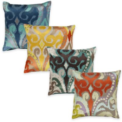 Surya Krasavino 22-Inch Ikat Throw Pillow in Poppy