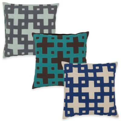 Surya Almere 20-Inch Geometric Throw Pillow in Teal