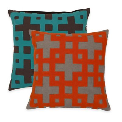 Surya Almere 22-Inch Geometric Throw Pillow in Poppy