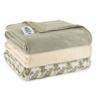 Micro Flannel® Electric Heated Twin Comforter/Blanket in Meadow