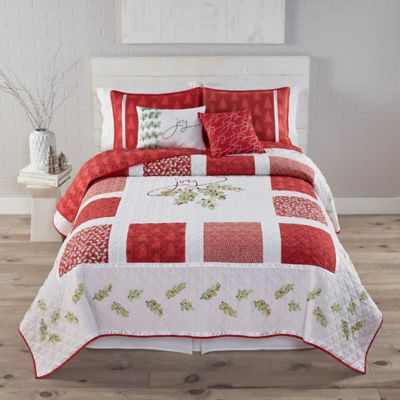 Kathy Davis Framed Joy Reversible Queen Quilt Set