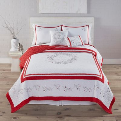 Kathy Davis Peace on Earth Reversible Twin Quilt Set