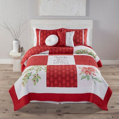 Kathy Davis Beauty of the Season Reversible Twin Quilt Set