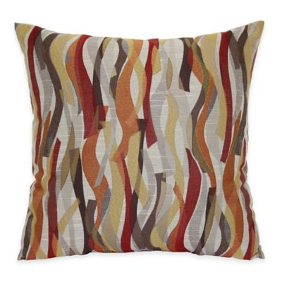 Ziggles Square Throw Pillow in Red