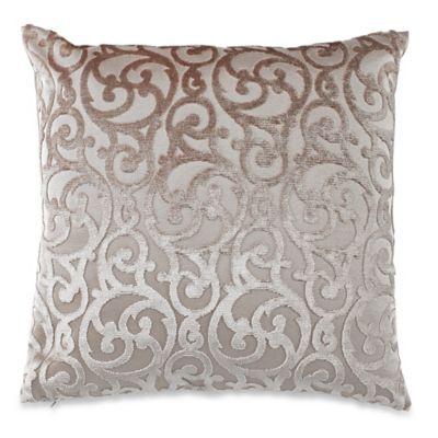 Gateway Square Throw Pillow in Taupe