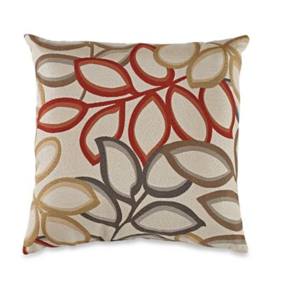 Poeme Square Throw Pillow in Red