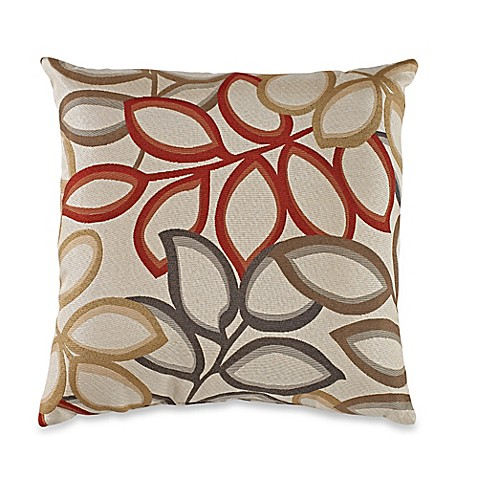 Poeme Square Throw Pillow in Red - Bed Bath & Beyond