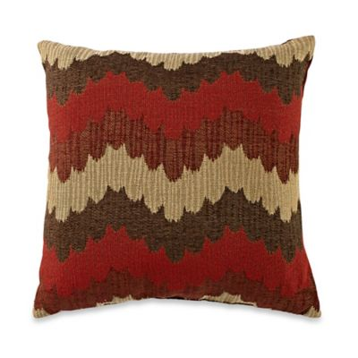 Slater Square Throw Pillow in Red