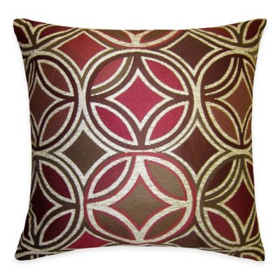 Motion Chenille 20-Inch Square Throw Pillow in Red