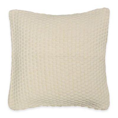 Phoebe Square Throw Pillow in Cream