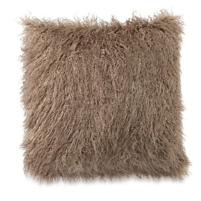 Taupe Faux Fur Decor