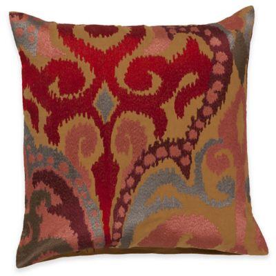 Surya Krasavino 18-Inch Ikat Throw Pillow in Poppy