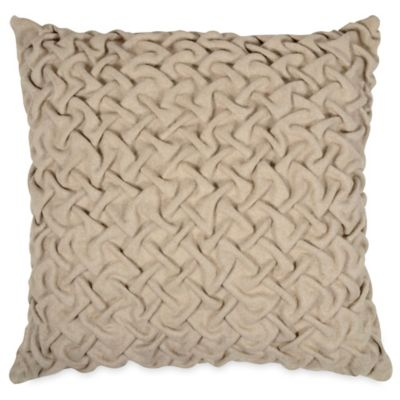 Pleated Square Throw Pillow in Neutral