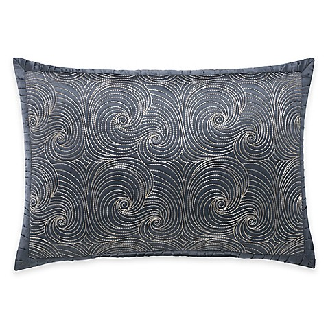 Buy Manor Hill Ripple Quilted Swirl Oblong Throw Pillow in Ink Blue from Bed Bath & Beyond