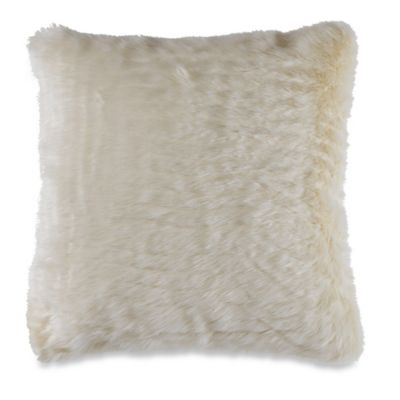 Cream Faux Fur Decor