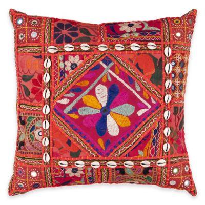 Surya Konakovo 18-Inch Throw Pillow in Rust