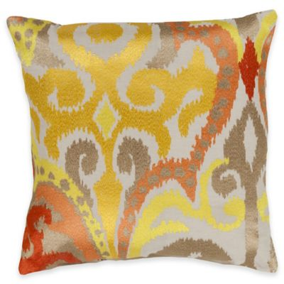 Surya Krasavino 18-Inch Ikat Throw Pillow in Sunflower