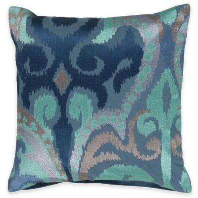 Surya Krasavino 18-Inch Ikat Throw Pillow in Sky Blue
