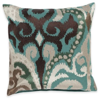 Surya Krasavino 22-Inch Ikat Throw Pillow in Seafoam