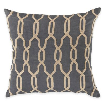 Surya Asino 22-Inch Geometric Throw Pillow in Teal