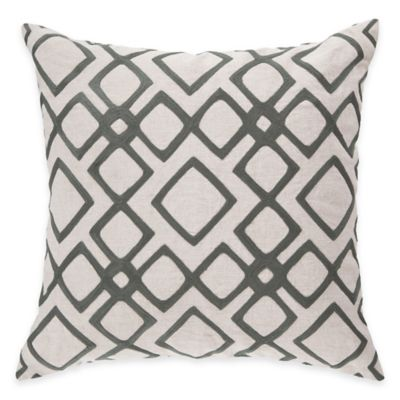Surya Avellino 22-Inch Square Geometric Throw Pillow in Charcoal