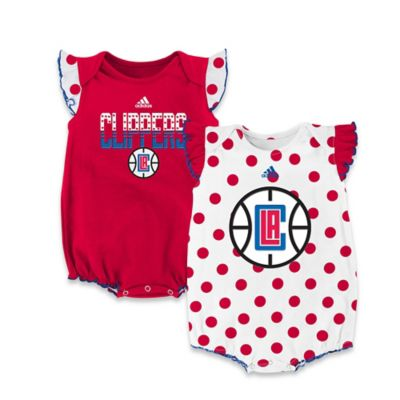 NBA Los Angeles Clippers Polka Fan Size 0-3M 2-Piece Creeper Set