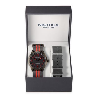 Nautica® Men's 45mm NCC 01 Date Watch Box Set